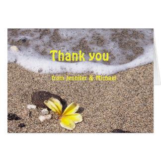 Tropischer Strand danken Ihnen Karten
