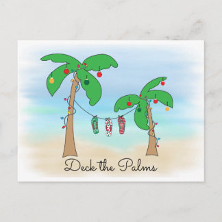 Tropical Beach Hawaiian Christmas Deck The Palms
