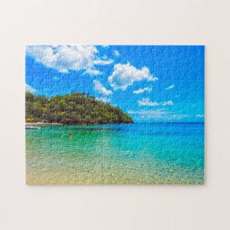 Tropischer Strand Heiliges Vincent Puzzle