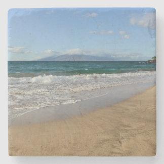 Tropischer Strand in Maui Hawaii Steinuntersetzer