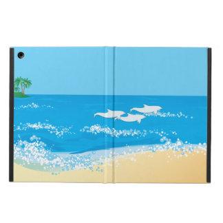 Tropischer Strand-landschaftlicher Delphin-Entwurf