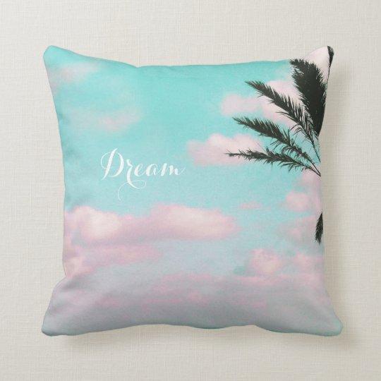 Tropischer Strand, Meerblick, Palme schön Kissen