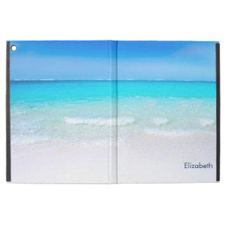 Tropischer Strand mit einer Türkis-Seegewohnheit