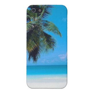 Tropischer Strand mit Sand, Palme und Ozean iPhone 5 Hüllen