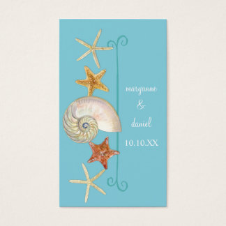 Tropischer Strand-MuschelnStarfishnautilus-Sommer Visitenkarte