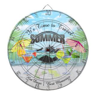 Tropischer Strand, Sommer-Ferien   personalisiert Dartscheibe