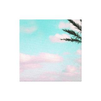 Tropischer Strand, träumerischer Meerblick, Palme Leinwanddruck