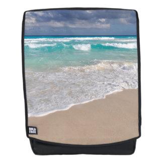 Tropischer Strand und Sandy-Strand Rucksack