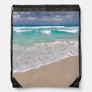 Tropischer Strand und Sandy-Strand Turnbeutel