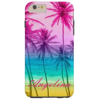 tropischer Strandregenbogenfilter Tough iPhone 6 Plus Hülle