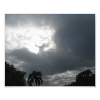 tropischer Sturm-Fotodruck Photographischer Druck