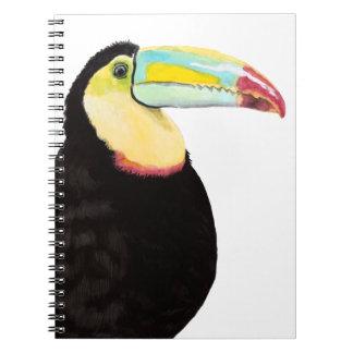 Tropischer Toucan Vogel Notizblock
