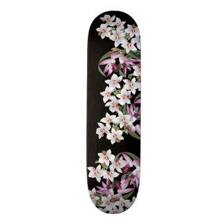 Tropischer weißer 21,6 cm skateboard deck