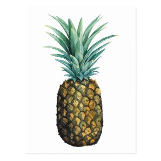 Tropisches Ananas-Aquarell Postkarte