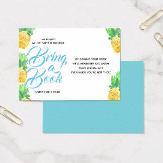 Tropisches Ananas babyshower holen eine Buchkarte Visitenkarte