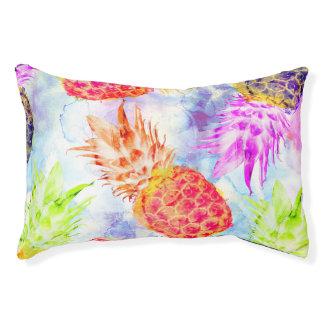 Tropisches Ananas-Muster-schönes Aquarell Haustierbett