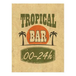 Tropisches Bar Postkarte