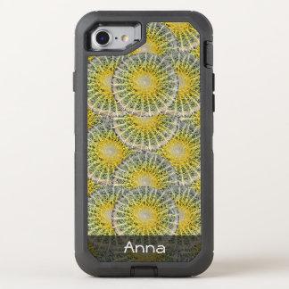 Tropisches Bereich-Kaktus-Muster irgendein Text OtterBox Defender iPhone 8/7 Hülle