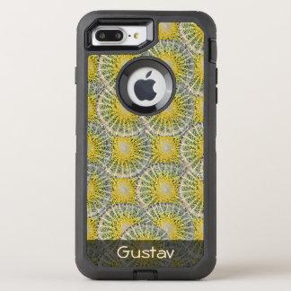 Tropisches Bereich-Kaktus-Muster irgendein Text OtterBox Defender iPhone 8 Plus/7 Plus Hülle
