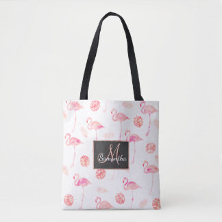 Tropisches Blatt des modischen rosa Tasche
