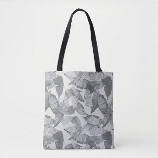 Tropisches Blatt-graue Entwurfs-Tasche Tasche