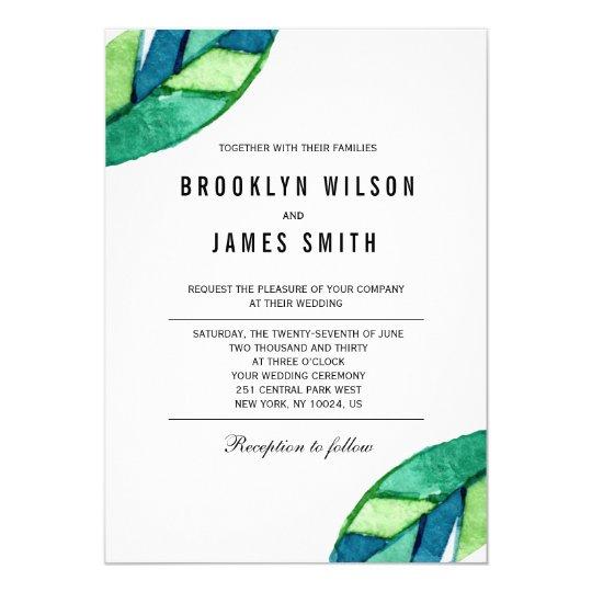 Tropisches Blätter, das Einladungen Wedding ist