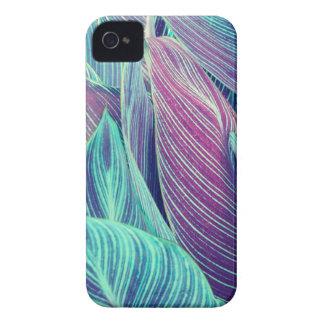 Tropisches Blätter iPhone 4 Case-Mate Hüllen