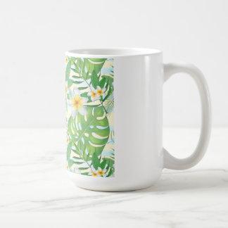 Tropisches Blätter Kaffeetasse