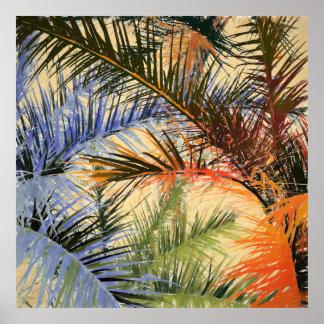 Tropisches Blätter Poster
