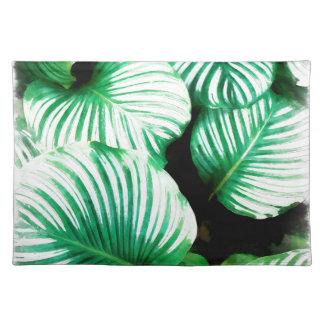 Tropisches Blätter Tischset