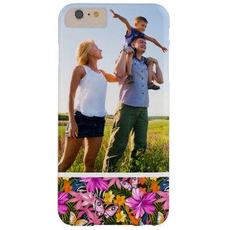 Tropisches Blätter und Blumen des Barely There iPhone 6 Plus Hülle