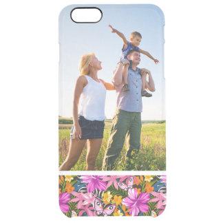 Tropisches Blätter und Blumen des Durchsichtige iPhone 6 Plus Hülle