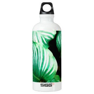 Tropisches Blätter Wasserflasche