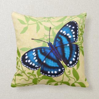 Tropisches blaues Schmetterlings-Kissen Zierkissen