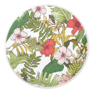 Tropisches Blumen Keramikknauf