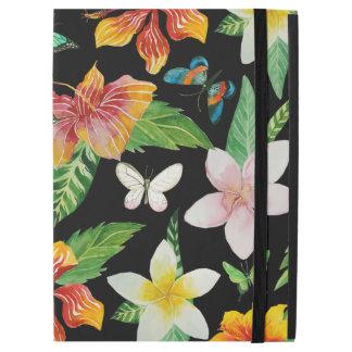 Tropisches Blumen- u. Schmetterlingsmuster