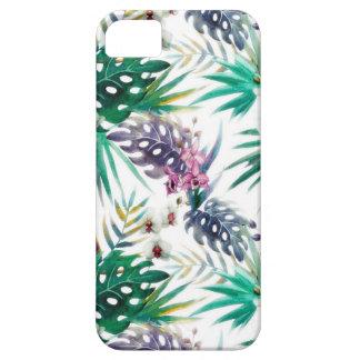 Tropisches Blumenmuster hell iPhone 5 Case