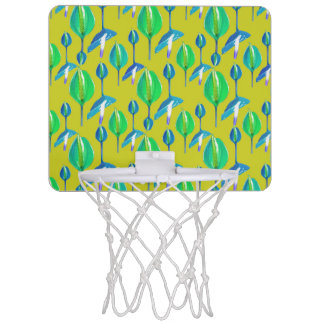 Tropisches Blumenmuster Mini Basketball Ring
