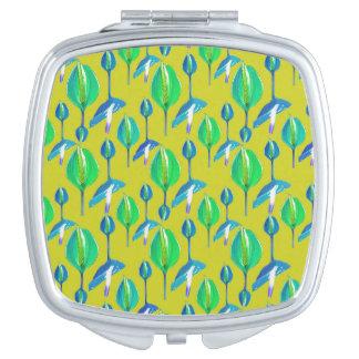 Tropisches Blumenmuster Taschenspiegel