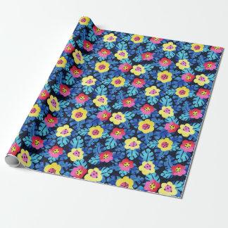 Tropisches BlumenPackpapier Geschenkpapier