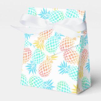 tropisches buntes Ananasmuster des eleganten Geschenkschachtel