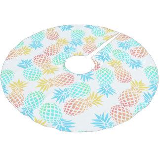 tropisches buntes Ananasmuster des eleganten Polyester Weihnachtsbaumdecke