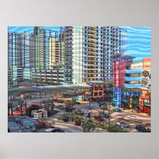 Tropisches Daytona Beach Florida in die Stadt Poster