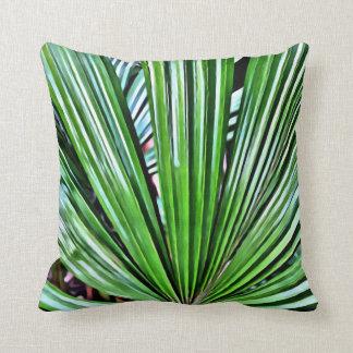 Tropisches Fan-Palmen-Kissen Kissen