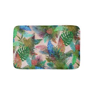 Tropisches Farn-, Palmen-und Bananen-Blätter Badematte
