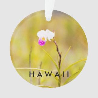Tropisches Foto/Text Hawaiis Blumen-2 Ornament