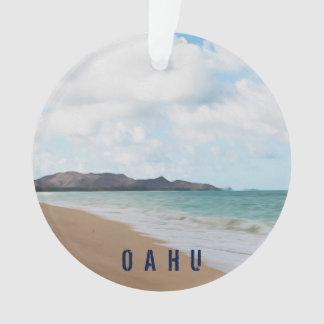 Tropisches Foto u. Text Oahus Hawaii Strand-2 Ornament