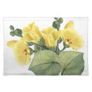 Tropisches gelbes Hibiskus-Blumen-Tischset Tischset