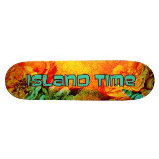 Tropisches Grenzinsel-Zeit-Skateboard Personalisierte Skatedecks