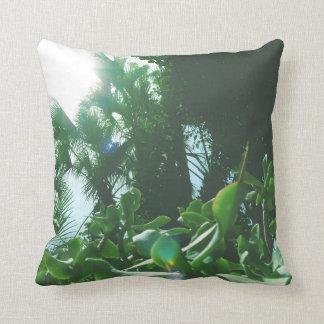 Tropisches Grün-Wurfs-Kissen Kissen